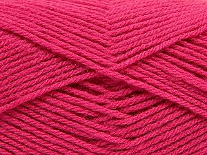 Fiber Content 100% Acrylic, Brand Ice Yarns, Candy Pink, Yarn Thickness 3 Light DK, Light, Worsted, fnt2-70029