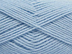 Fiber Content 100% Acrylic, Brand Ice Yarns, Baby Blue, Yarn Thickness 3 Light DK, Light, Worsted, fnt2-70047