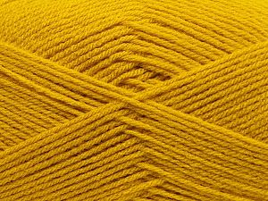 Fiber Content 100% Acrylic, Brand Ice Yarns, Dark Yellow, fnt2-70076