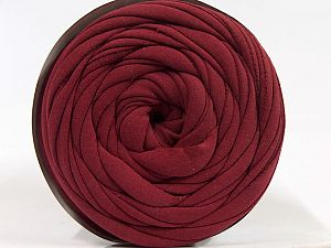 Make handbags,rugs,basket and cushion covers with this genius new-fashion yarn!<p>Since the yarn is made by upcycling fabrics, and because of the nature of the yarn; take the following notes into consideration. </p><ul><li>Fiber content information may vary. Information given about fiber content is approximate. </li><li>The yardage and weight information of the yarn is approximate. </li></ul> Fiber Content 95% Cotton, 5% Elastan, Brand Ice Yarns, Burgundy, fnt2-70291