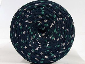 Make handbags,rugs,basket and cushion covers with this genius new-fashion yarn!<p>Since the yarn is made by upcycling fabrics, and because of the nature of the yarn; take the following notes into consideration. </p><ul><li>Fiber content information may vary. Information given about fiber content is approximate. </li><li>The yardage and weight information of the yarn is approximate. </li></ul> Fiber Content 95% Cotton, 5% Elastan, White, Brand Ice Yarns, Green, fnt2-70303