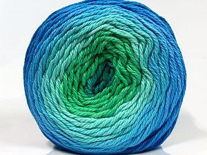 Fiber Content 100% Cotton, Brand Ice Yarns, Green Shades, Blue Shades, fnt2-70928