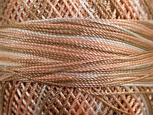 Fiber Content 100% Micro Fiber, Brand YarnArt, White, Salmon, Brown, Yarn Thickness 0 Lace  Fingering Crochet Thread, fnt2-17338