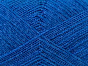 Fiber Content 60% Merino Wool, 40% Acrylic, Brand ICE, Blue, Yarn Thickness 2 Fine  Sport, Baby, fnt2-21100