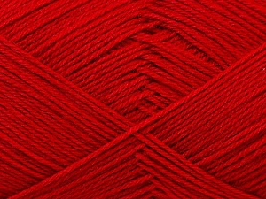 Fiber Content 60% Merino Wool, 40% Acrylic, Red, Brand ICE, Yarn Thickness 2 Fine  Sport, Baby, fnt2-21108