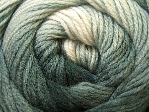 Fiber Content 100% Acrylic, White, Brand ICE, Grey, Black, Yarn Thickness 3 Light  DK, Light, Worsted, fnt2-22014