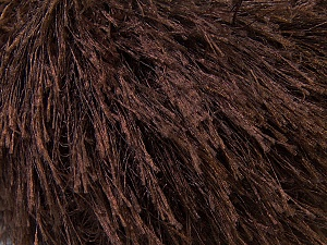 Fiber Content 100% Polyester, Brand ICE, Dark Brown, Yarn Thickness 5 Bulky  Chunky, Craft, Rug, fnt2-22754