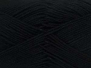 Fiber Content 100% Mercerised Cotton, Brand ICE, Black, Yarn Thickness 2 Fine  Sport, Baby, fnt2-23321