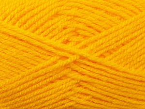 Worsted  Fiber Content 100% Acrylic, Yellow, Brand ICE, Yarn Thickness 4 Medium  Worsted, Afghan, Aran, fnt2-23726