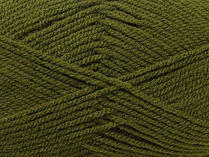 Worsted  Fiber Content 100% Acrylic, Brand ICE, Dark Green, Yarn Thickness 4 Medium  Worsted, Afghan, Aran, fnt2-23739
