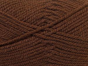 Bulky  Fiber Content 100% Acrylic, Brand ICE, Brown, Yarn Thickness 5 Bulky  Chunky, Craft, Rug, fnt2-23749