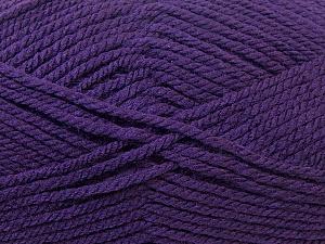 Bulky  Fiber Content 100% Acrylic, Purple, Brand ICE, Yarn Thickness 5 Bulky  Chunky, Craft, Rug, fnt2-23755