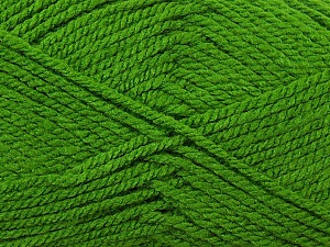 Bulky  Fiber Content 100% Acrylic, Brand ICE, Green, Yarn Thickness 5 Bulky  Chunky, Craft, Rug, fnt2-23760