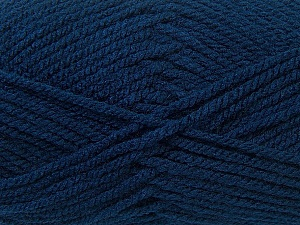 Bulky  Fiber Content 100% Acrylic, Navy, Brand ICE, Yarn Thickness 5 Bulky  Chunky, Craft, Rug, fnt2-24502