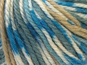 Fiber Content 40% Acrylic, 35% Wool, 25% Alpaca, Light Brown, Brand ICE, Grey, Blue, Yarn Thickness 5 Bulky  Chunky, Craft, Rug, fnt2-25417
