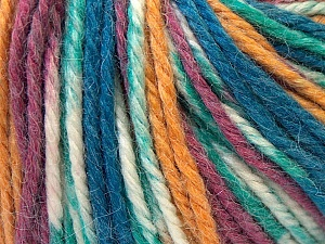Fiber Content 40% Acrylic, 35% Wool, 25% Alpaca, White, Purple, Navy, Brand ICE, Gold, Yarn Thickness 5 Bulky  Chunky, Craft, Rug, fnt2-25418