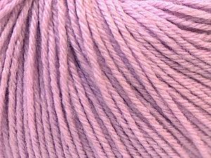 Fiber Content 40% Merino Wool, 40% Acrylic, 20% Polyamide, Lilac, Brand ICE, Yarn Thickness 2 Fine  Sport, Baby, fnt2-26117