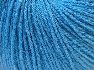 Fiber Content 40% Merino Wool, 40% Acrylic, 20% Polyamide, Light Blue, Brand ICE, Yarn Thickness 2 Fine  Sport, Baby, fnt2-26123