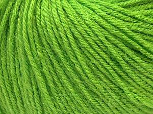 Fiber Content 40% Merino Wool, 40% Acrylic, 20% Polyamide, Brand ICE, Green, Yarn Thickness 2 Fine  Sport, Baby, fnt2-26126