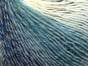 Fiber Content 50% Acrylic, 50% Wool, White, Light Blue, Brand ICE, Grey, Yarn Thickness 3 Light  DK, Light, Worsted, fnt2-27147