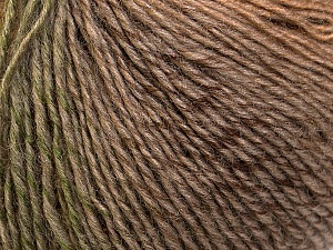 Fiber Content 50% Wool, 50% Acrylic, Khaki, Brand Ice Yarns, Camel, Brown Shades, Yarn Thickness 3 Light  DK, Light, Worsted, fnt2-27150