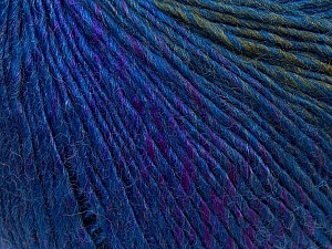 Fiber Content 50% Acrylic, 50% Wool, Purple, Khaki, Brand Ice Yarns, Blue, Yarn Thickness 3 Light  DK, Light, Worsted, fnt2-27151