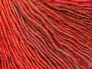 Fiber Content 50% Acrylic, 50% Wool, Red, Brand ICE, Copper, Brown, Yarn Thickness 3 Light  DK, Light, Worsted, fnt2-27157