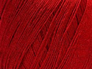 Fiber Content 50% Viscose, 50% Linen, Brand Ice Yarns, Dark Red, Yarn Thickness 2 Fine  Sport, Baby, fnt2-27261