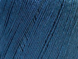 Fiber Content 50% Viscose, 50% Linen, Brand Ice Yarns, Blue, Yarn Thickness 2 Fine  Sport, Baby, fnt2-27266