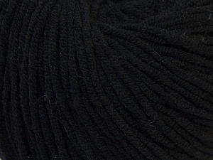 Fiber Content 50% Acrylic, 50% Cotton, Brand ICE, Black, Yarn Thickness 3 Light  DK, Light, Worsted, fnt2-27349