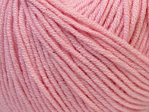 Fiber Content 50% Cotton, 50% Acrylic, Light Pink, Brand ICE, Yarn Thickness 3 Light  DK, Light, Worsted, fnt2-27360