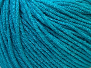 Fiber Content 50% Cotton, 50% Acrylic, Turquoise, Brand ICE, Yarn Thickness 3 Light  DK, Light, Worsted, fnt2-27369