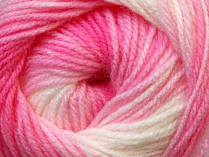 Fiber Content 100% Baby Acrylic, White, Pink Shades, Brand ICE, Yarn Thickness 2 Fine  Sport, Baby, fnt2-29602