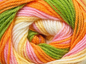 Fiber Content 100% Baby Acrylic, Yellow, White, Pink, Orange, Brand ICE, Green, Yarn Thickness 2 Fine  Sport, Baby, fnt2-29609