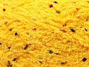 Fiber Content 85% Micro Fiber, 15% Polyamide, Brand ICE, Dark Yellow, Yarn Thickness 5 Bulky  Chunky, Craft, Rug, fnt2-32480