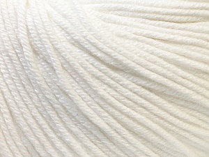Fiber Content 60% Cotton, 40% Acrylic, Optical White, Brand Ice Yarns, Yarn Thickness 2 Fine  Sport, Baby, fnt2-32556