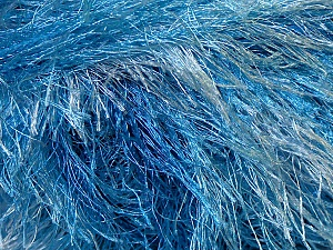 Fiber Content 100% Polyester, Brand ICE, Blue Shades, Yarn Thickness 5 Bulky  Chunky, Craft, Rug, fnt2-33974