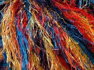 Fiber Content 100% Polyester, Yellow, Red, Orange, Brand ICE, Blue, Yarn Thickness 5 Bulky  Chunky, Craft, Rug, fnt2-33980