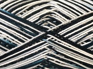 Ne: 8/4. Nm 14/4 Fiber Content 100% Mercerised Cotton, White, Brand ICE, Grey, Black, Yarn Thickness 2 Fine  Sport, Baby, fnt2-34794