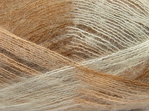 Fiber Content 70% Mohair, 30% Acrylic, White, Brand ICE, Cream, Camel, Yarn Thickness 3 Light  DK, Light, Worsted, fnt2-35063
