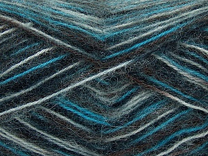 Fiber Content 70% Angora, 30% Acrylic, White, Brand ICE, Grey, Brown, Blue, Black, Yarn Thickness 2 Fine  Sport, Baby, fnt2-35076