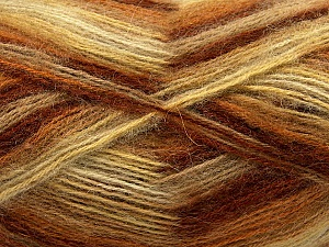 Fiber Content 70% Angora, 30% Acrylic, Yellow, White, Brand ICE, Brown Shades, Yarn Thickness 2 Fine  Sport, Baby, fnt2-35080