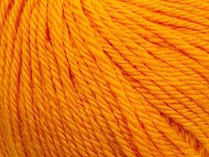 Fiber Content 100% Wool, Brand ICE, Dark Yellow, Yarn Thickness 4 Medium  Worsted, Afghan, Aran, fnt2-38003