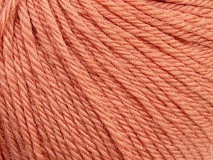 Fiber Content 100% Wool, Light Salmon, Brand ICE, Yarn Thickness 4 Medium  Worsted, Afghan, Aran, fnt2-38004