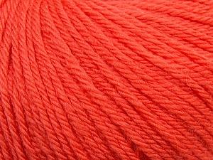 Fiber Content 100% Wool, Salmon, Brand ICE, Yarn Thickness 4 Medium  Worsted, Afghan, Aran, fnt2-38005