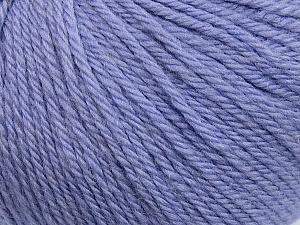 Fiber Content 100% Wool, Lilac, Brand ICE, Yarn Thickness 4 Medium  Worsted, Afghan, Aran, fnt2-38011