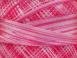 Fiber Content 100% Micro Fiber, Pink Shades, Light Pink, Brand ICE, Yarn Thickness 0 Lace  Fingering Crochet Thread, fnt2-40208
