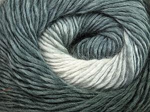 Fiber Content 50% Wool, 50% Acrylic, Brand ICE, Grey Shades, Yarn Thickness 2 Fine  Sport, Baby, fnt2-40621