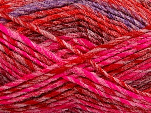 Fiber Content 75% Acrylic, 25% Wool, Red, Pink, Lilac, Brand ICE, Burgundy, Yarn Thickness 5 Bulky  Chunky, Craft, Rug, fnt2-40819