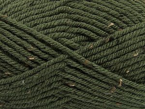 Fiber Content 72% Acrylic, 3% Viscose, 25% Wool, Brand ICE, Dark Khaki, Yarn Thickness 6 SuperBulky  Bulky, Roving, fnt2-40839